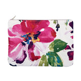 OLIVIA Clutch in Fuchsia Watercolour Floral Print / Laptop Case