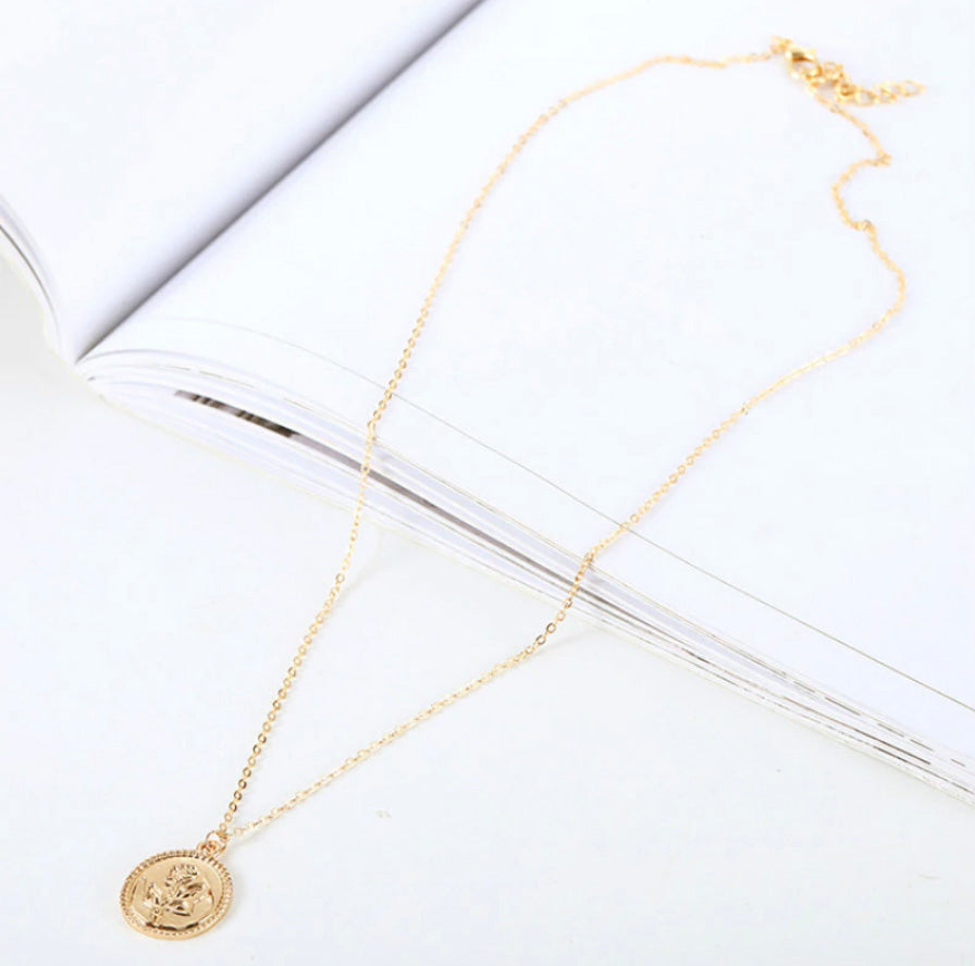 ROSE - Gold Coin Necklace