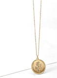 ROSE - Gold Coin Pendant Necklace