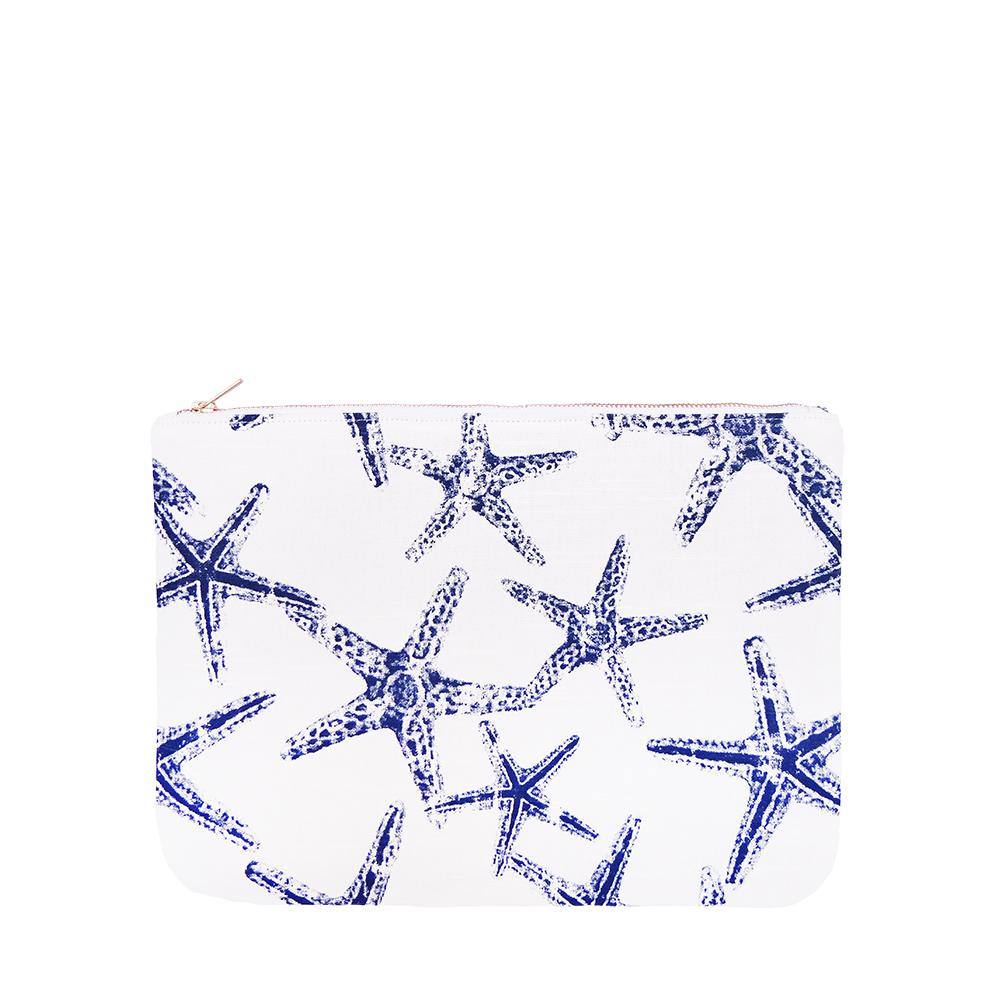 OLIVIA Clutch in Starfish / Laptop Case