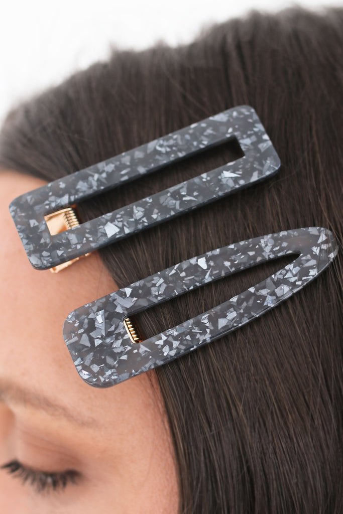 Black Hair Clip Set