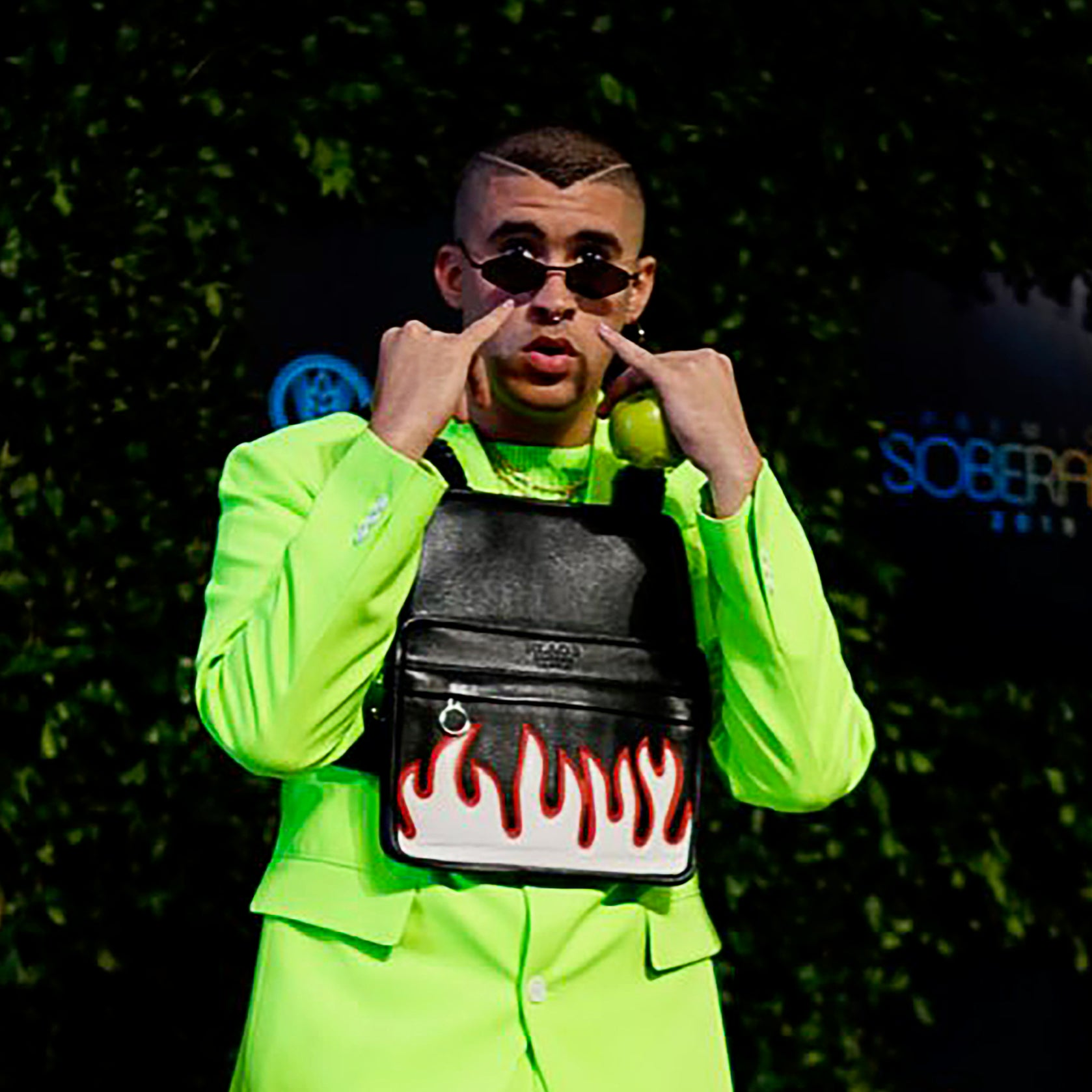 Artist Bad Bunny Rocks the La Flame Chest Rig in the Dominican Republic