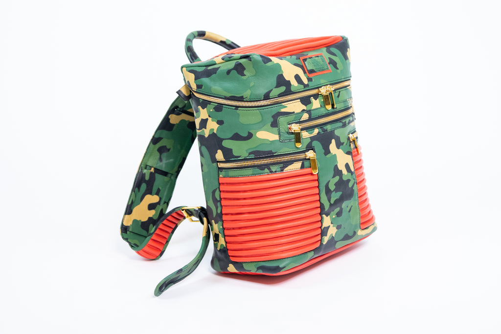 CAMO BACKPACK (TANGERINE)