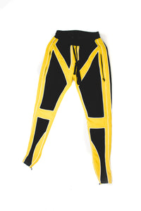 UNISEX Leather Joggers (Yellow)