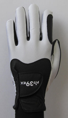 FIT39 Golf Glove Classic D White Black