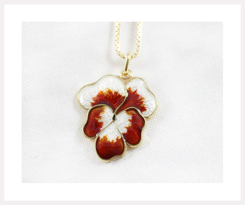 Red and white pansy