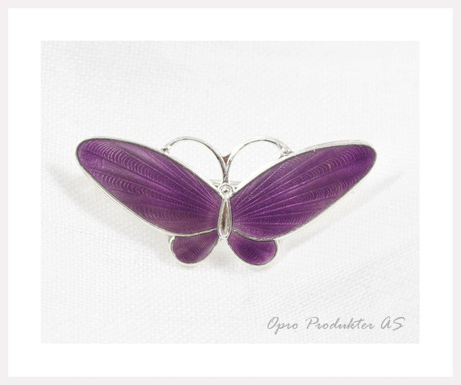 Purple silver butterfly