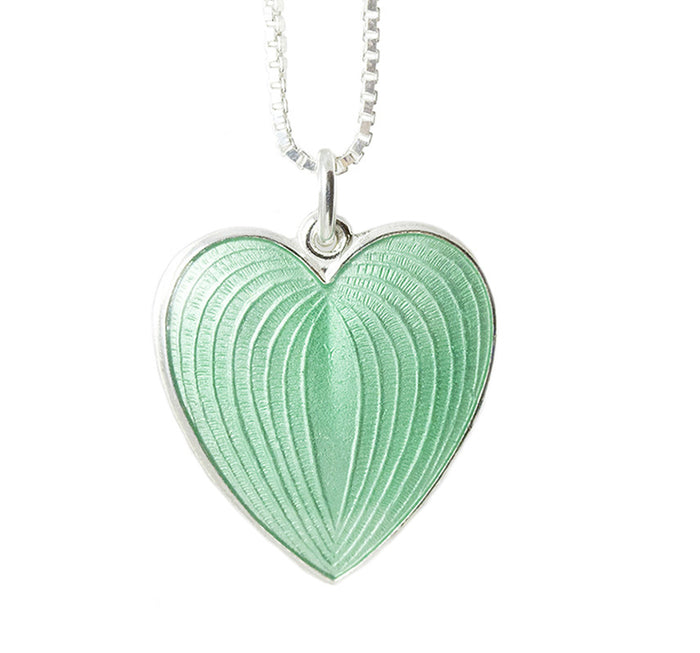Enamel and silver heart, handmade from Opro - norwegian enamel jewellery