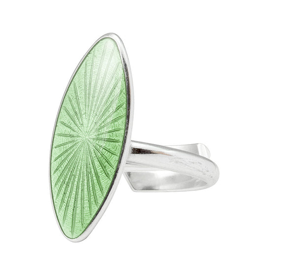 Handmade Arrow ring in silver and enamel, from Opro - norwegian enamel jewellery. Opro - norske emaljesmykker