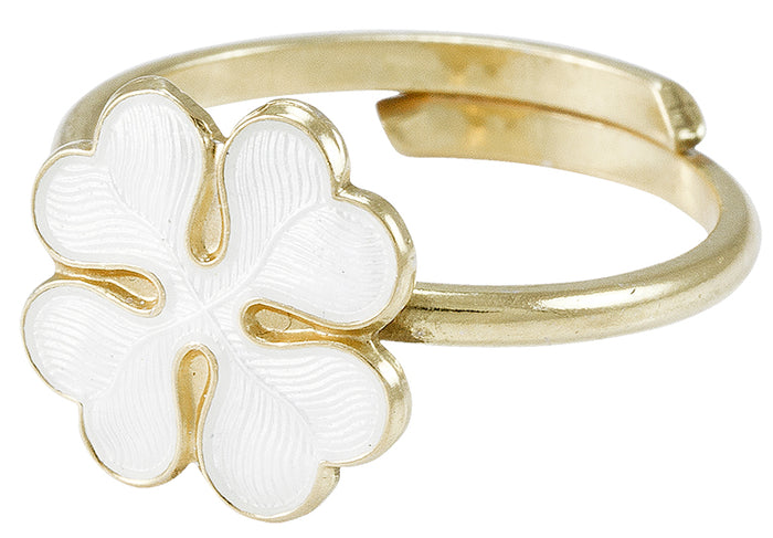 Lucky Clover ring, handmade enamel and silver ring from Opro - norske emaljesmykker.