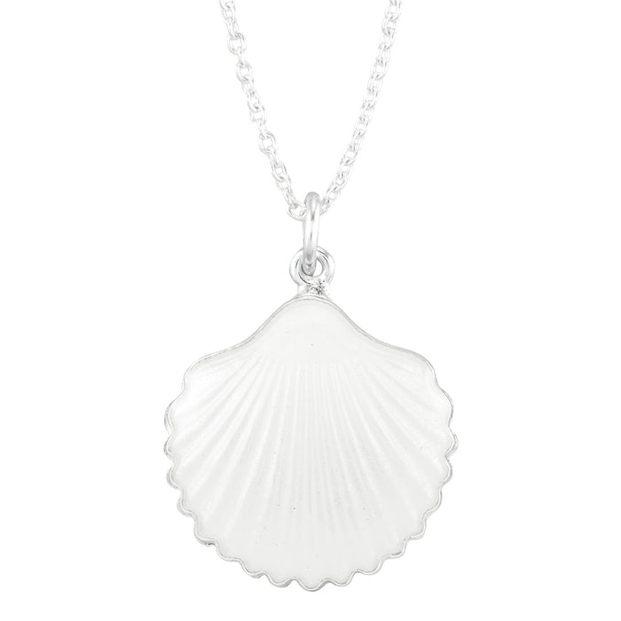 shell necklace, handmade enamel and silver, from Opro - norske emaljesmykker.