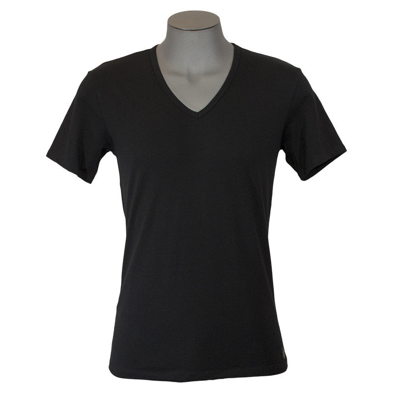 "Calvin Klein ""CK One"" Cotton 2 Pack V-Neck T-Shirt Black"