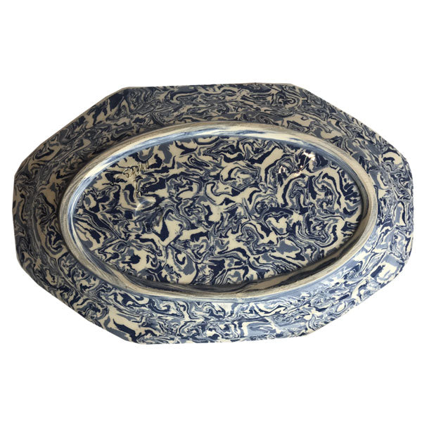 French Blue Aptware Hexagon Platter