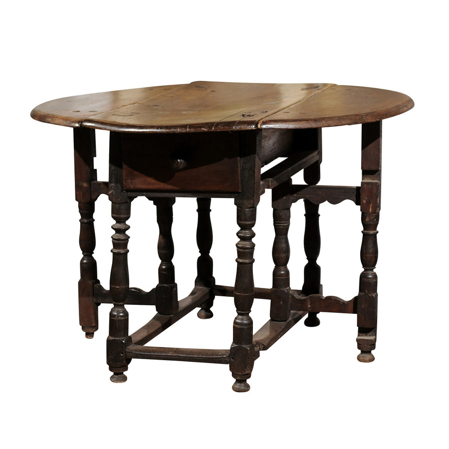 17th C. Drop Leaf Side Table from La Drome, France