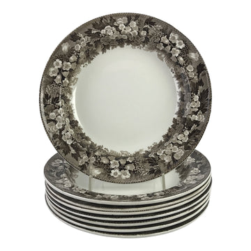 19th-C. Wedgwood Luncheon Plates, S/8