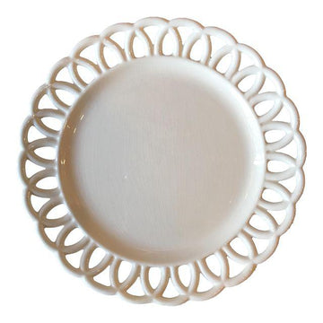 19th c. Swedish Creamware Loop Edge Plate