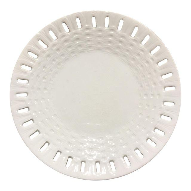 19th-c. Swedish Creamware Plate