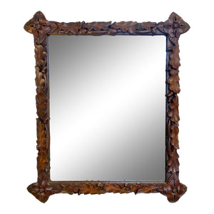 19th C. Black Forest Carved Mirror