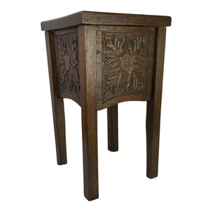 19th C. English Carved Drink Table