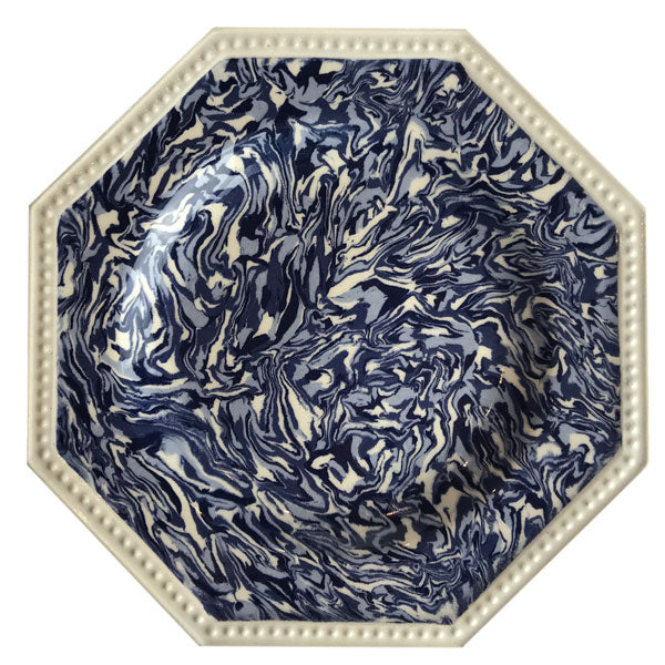 Copy of French Blue Aptware Hexagon Dinner Plate