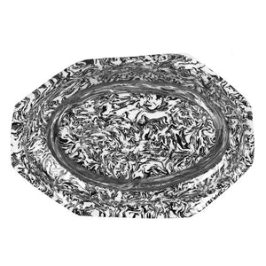 French Black Aptware Hexagon Platter
