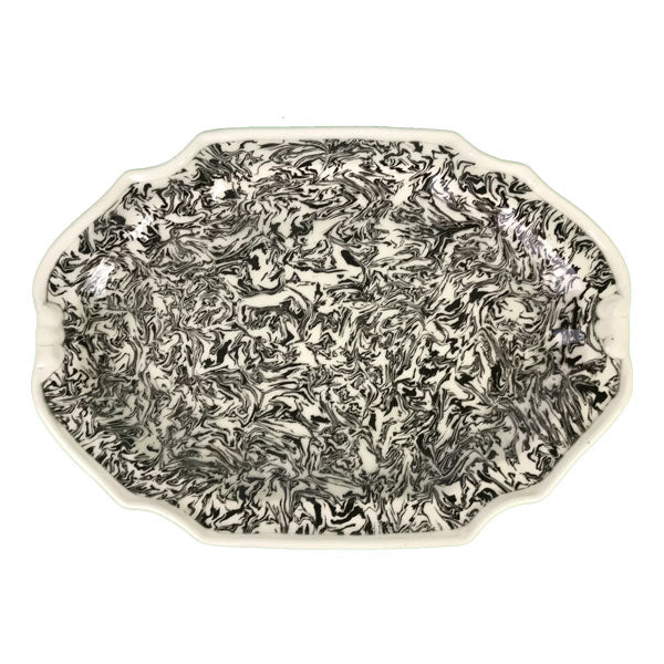 French Black Aptware Platter avec Orielles (ears)
