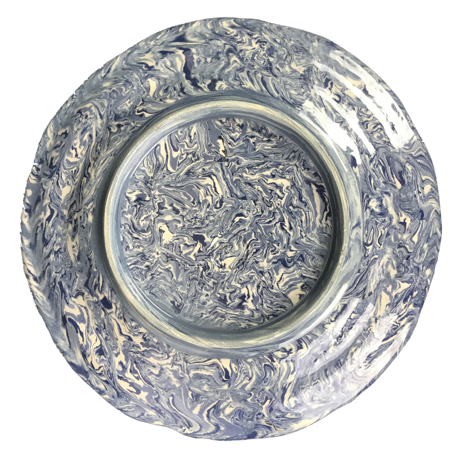 French Blue Aptware Dinner Plate
