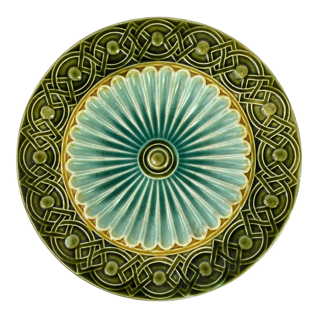 "Art Deco Swedish Majolica Plate 8.5"" (5 available)"