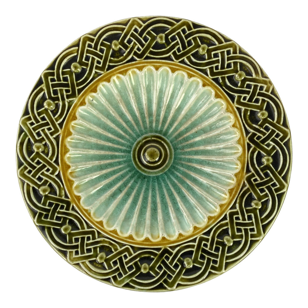 "Art Deco Swedish Majolica Plate 6"" (11 available)"