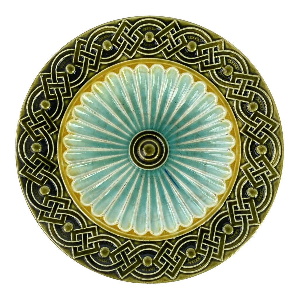 "Art Deco Swedish Majolica Plate 7""  (10 available)"