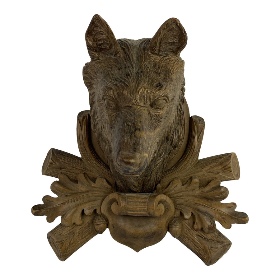 Black Forest Carved Dog