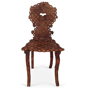 Carved Black Forest Chair
