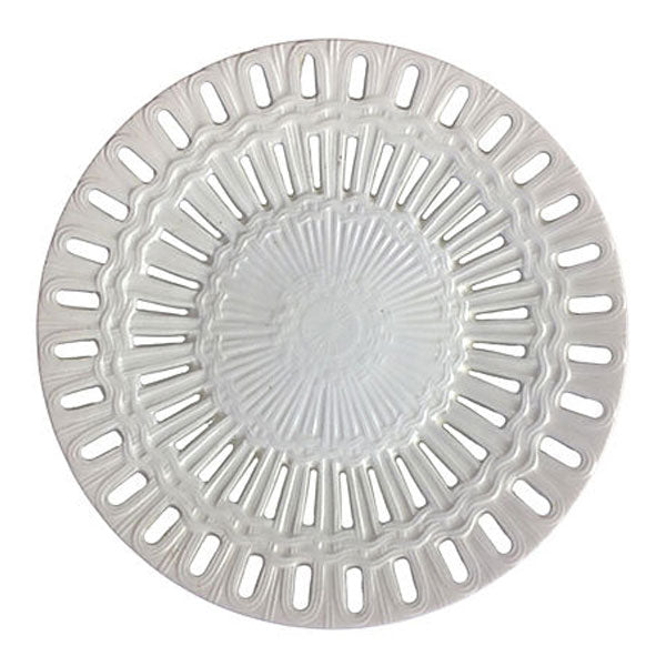 Creamware Reticulated Plate, 6.25 in