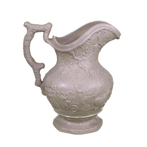Early 19th C. English Salt Glazed Drabware Pitcher