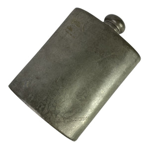 Early 20th Century English Pewter Flask