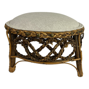 Early 20th Century English Rattan Stool