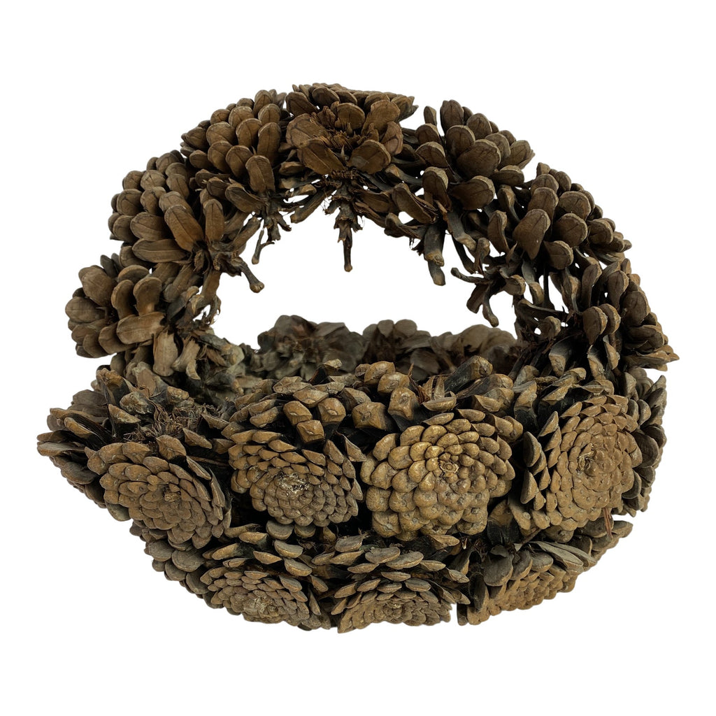 Early 20th Century French Pinecone Basket