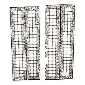 English 19th C. Metal Decorative Grates, Pair