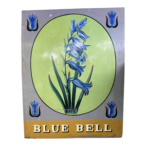 English Handpainted Blue Bell Pub Sign