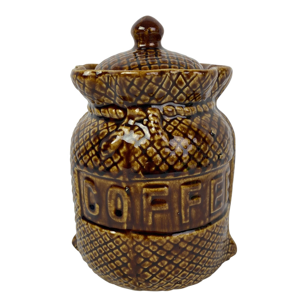 English Lidded Coffee Jar