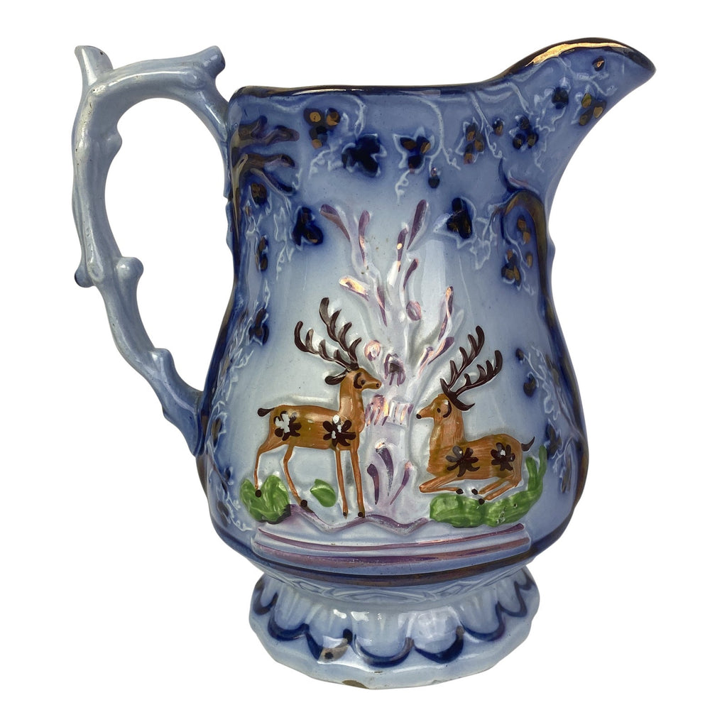 English Luster Stag Pitcher by Sunderland