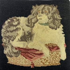 English Needlepoint Dog Bench