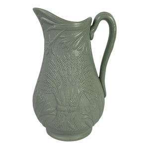 English Salt-Glaze Relief Molded Pitcher