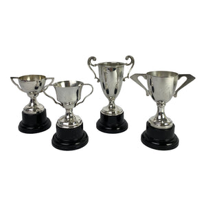 English Silverplate Mini Trophies, S/4