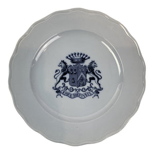 English Transferware Plate With Crest