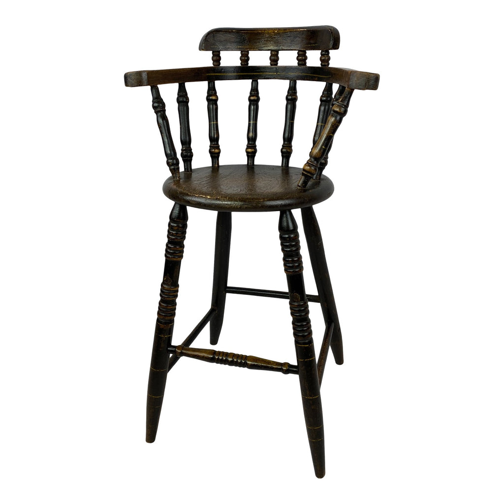 English Windsor Child's High Chair