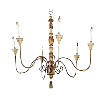 European 6-Light Chandelier