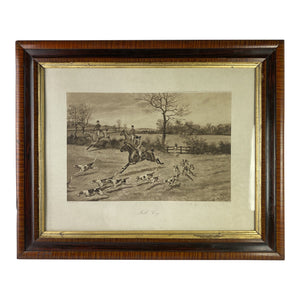 Framed Print of an English Hunting Scene, 1900
