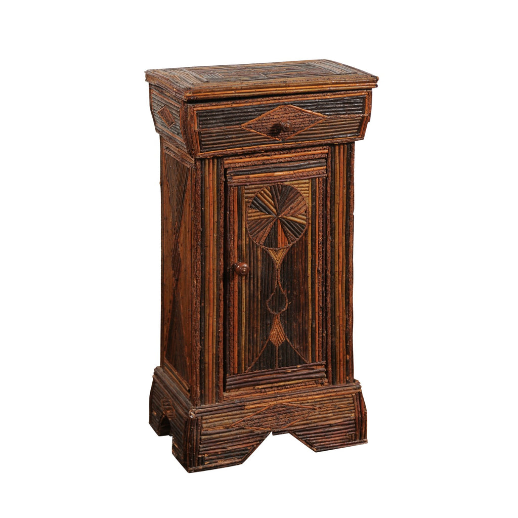 French Folk Art Small Cabinet