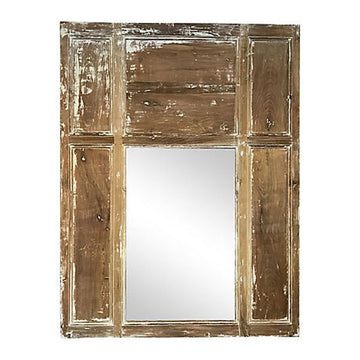 French Scraped Trumeau Mirror
